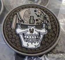 SOLDIER SKULL  MORALES - AIRSOFT - TACTICAL 2D PVC PATCH
