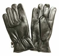MENS WOMENS WARM INSULATED WINTER DRIVING RIDING LEATHER LINED GLOVES - UDD6