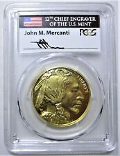 2006-W $50 American Gold BUFFALO PCGS PR70DCAM Signed Mercanti POP 9