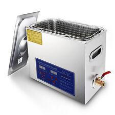 Stainless Steel 6L Liter Industry Heated Ultrasonic Cleaner Heater w/Timer 110V