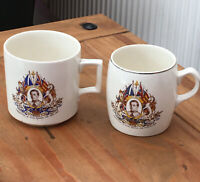 Antique Pair Commemorative Mugs. Coronation King Edward VIII 12/5/1937