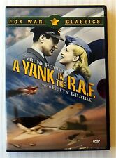 A Yank in the R.A.F. ~ Rare Not For Sale DVD  World War Movie  Tyrone Power RAF