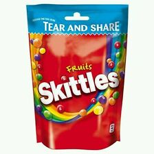 IMPORTED SKITTLES CHEWY CANDIES POUCH - 174 GRAMS  { Rare In India }