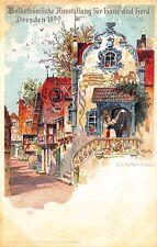 Dresden Germany Zur Kaffee-Gustel Signed E. Rieck 1899 Pioneer Postal Card