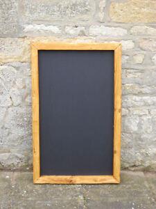 Chalkboard / blackboard large wooden/ menu memo board / notice board 600 x 750