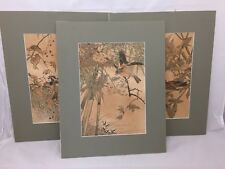IMAO KEINEN JAPANESE ARTIST COLORED WOODBLOCK PRINTS KACHO-GA BIRD FLOWER 3 AV.