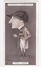 John Player & Sons Cigarette card - Racing Caricatures 1925 #25 Fred Lane