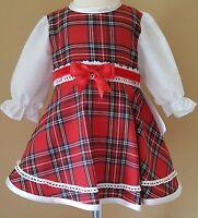 New season baby girls spanish/romany style tartan dress 6-12months.
