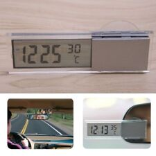 Digital LCD Clock Thermometer With Suction Cup Auto Car Vehicle Monitor Interior