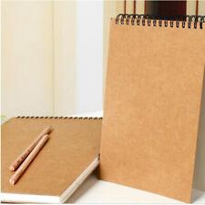 A5 Hardback Art Sketchbook/ Spiral Bound Drawing Book Blank 30 Sheets Paper