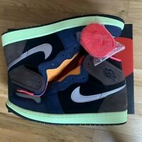 Nike Air Jordan Retro 1 HIGH OG Biohack Baroque Brown 555088-201 Bio Hack 4y-11