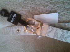 NEW  Michael Kors Unisex Twist Reversible Vanilla & Brown 2 in 1 Belt Size L