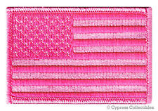 PINK AMERICAN FLAG PATCH embroidered LADY BIKER VEST UNITED STATES US iron-on