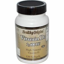 Healthy Origins, Vitamina D3, 2,400 IU, 120 Capsule Morbide