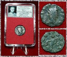 ANCIENT ROMAN EMPIRE COIN OF GALLIENUS AEQUITAS WITH SCALE AND CORNUCOPIA