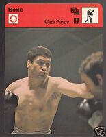 MATE PARLOV Yugoslavia Boxing vs Francois Fiol 1978 FRANCE SPORTSCASTER CARD