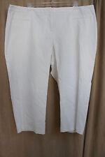 Charter Club Woman Pant Shop Sz 22W Bright White Rio De Flor Capri Casual Pants