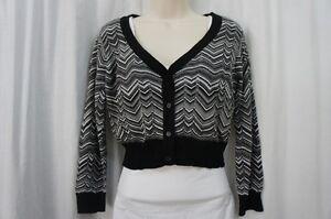 AGB Sweater Sz 12 Grey Multi Color Business Casual Bolero Shrug Everyday Wear