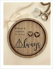 Wedding Ring Bearer Tray, Dish, Plate: Personalised Always - Harry Potter