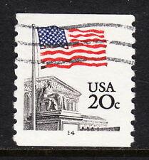 USA — SCOTT 1895c — 20¢ FLAG — PNC #14 — RARE USED UNTAGGED ERROR
