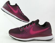 Women's Nike Air Zoom Pegasus 34 Running Shoes Sz 8 Port Wine, Deadly Pink MINT!