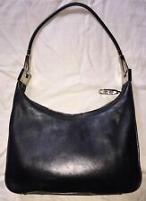 Authentic Vintage Gucci Jackie O Hobo Bag Black Smooth Leather Preowned