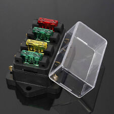 Car Accessory Waterproof Vehicle Truck Boat 4 Way Blade Fuse Box Holder +4X Fuse