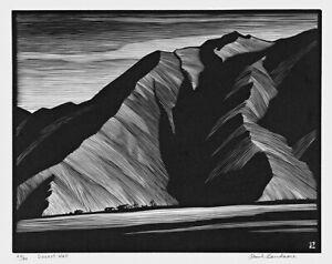 PAUL LANDACRE : Desert Wall : 1932 : Archival Quality Art Print