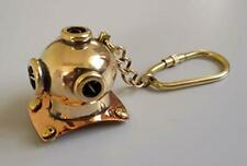 Nautical Brass Diving Helmet Key Chain Vintage Maritime Divers Helmet Key Ring