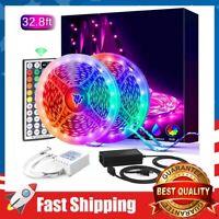 32.8FT RGB 5050 Led Strip Lights Flexible Color Changing Tape Lights 300 LEDs