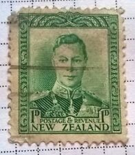 New Zealand stamps - King George VI   1p 1938 - FREE P & P