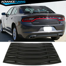 Fits 11-21 Dodge Charger IKON Style Rear Window Louver Cover Unpainted Black ABS