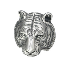 925 PURE SILVER JEWELRY PERSONALITY DOMINEERING TIGER HEAD POP RING GIFT