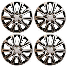 "15"" Combo Corsa Astra Connect Van Wheel Trims Hub Caps Black & Silver Covers x4"