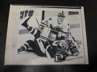 Vintage Wire Press Photo-Andy Moog Save Ken McRae Boston Bruins 3/16/1989