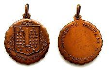 Medaglia Distretto Militare Vercelli Bronzo Diametro cm 3 Peso g 11,1
