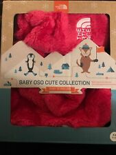 NWT Girls North Face Baby Osocute Set RTO Passion Pink Hat Mittens sz XXS 0-6M