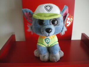 Ty Beanie Boos PAW PATROL ROCKY the dog 6 inch NWT. NEW RELEASE. IN STOCK NOW