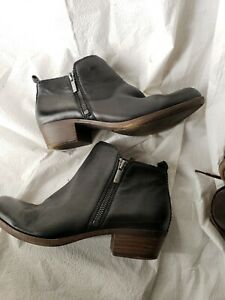 Lucky Brand Leather Ankle Booties. Womens Black, Low Heel. Super soft size 8