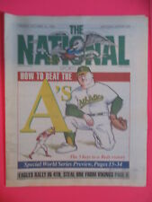 THE NATIONAL SPORTS DAILY NEWSPAPER A's vs REDS WORLD SERIES PREVIEW OCT 11 1990
