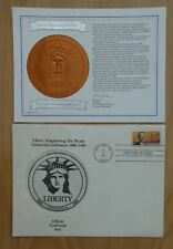 ENVELOPPE OFFICIEL DU BICENTENAIRE DE LA STATUE DE LA LIBERTE A NEW YORK 1985 US