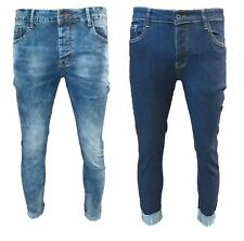 Jeans uomo pantaloni slim fit elasticizzati Skinny cotone VARI MODELLI