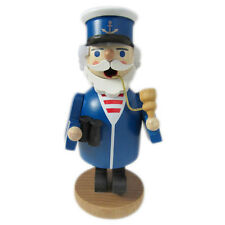 Small Wooden Blue Sea Sailor Incense Burner Smoker Made In Germany