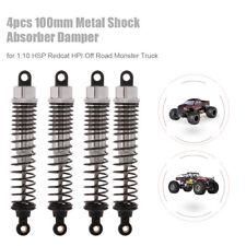 4pcs RC Car Parts 100mm Metal Shock Absorber Damper for 1:10 Traxxas HSP A6L4
