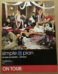 SIMPLE PLAN Rare 2002 PROMO TOUR POSTER for Pads CD 18x24 USA NEVER DISPLAYED