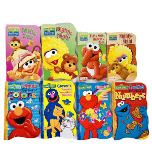 8 Sesame Street Board Books Lot Baby Toddler Beginnings Big Bird Cookie Elmo