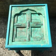 Handmade One Off Teal Rustic Coffee Table Recycled Cottage Window