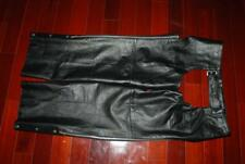 XELEMENT MENS BLACK LEATHER MOTORCYCLE CHAPS SIZE 48 XX