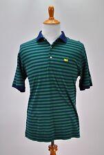 The MASTERS Collection Men Polo Golf Shirt Medium Green PGA Augusta Georgia
