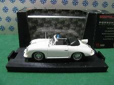 """Vintage -  PORSCHE  356  Cabriolet """" Polizei """"  1952   -  1/43  Brumm   r 198"""